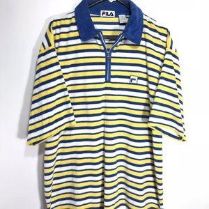 Vintage FILA Terry Cloth Polo Shirt